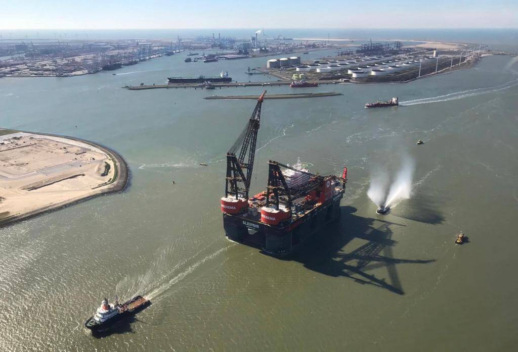 Sleipnir arrives home in Rotterdam