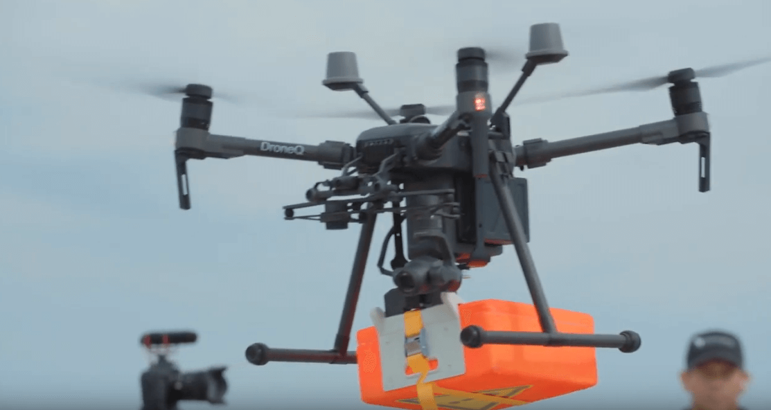 Drone delivers package to vessel in the port of Rotterdam for the first time